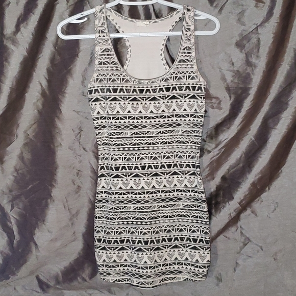 Bodycon Black and White patterned dress